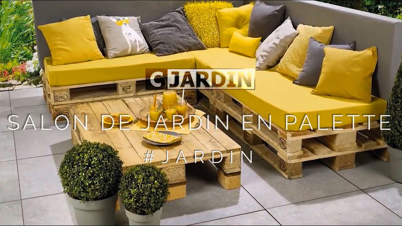 Salon De Jardin En Palette Youtube