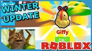 New Winter Update! Freezeville! New Pets And Hats! Roblox Ice Cream Simulator