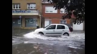 ☔☔☔⚡⚡⚡ Lille Seclin inondations dans le centre ville pendant l'orage ☔☔☔⚡⚡⚡