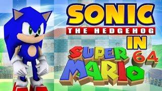 """Sonic in Super Mario 64 - """"0 stars"""" TAS"""