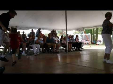 Polka Jack, age 3, dancing the polka at Pulaski Polka Days 7-22-2012 in Wisconsin