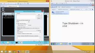 how to shutdown or restart clients remotely in windows server 2012