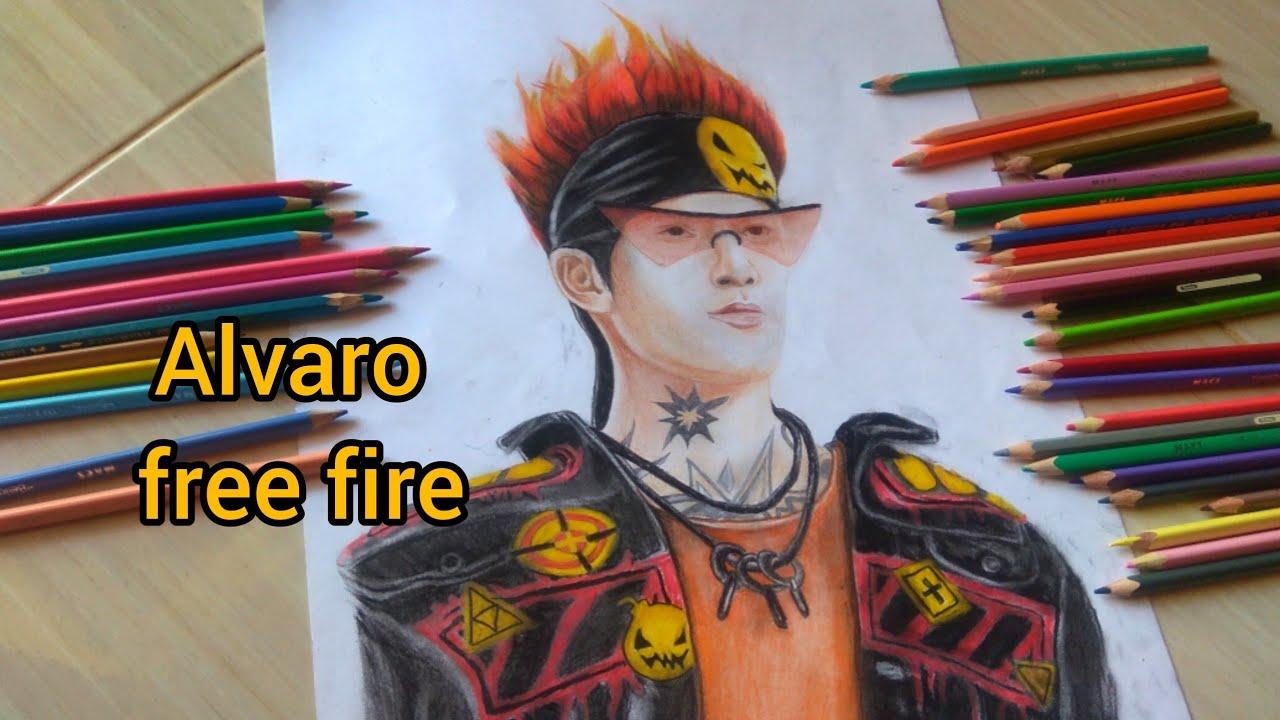 Menggambar Karakter Alvaro Ff Gambar Free Fire Youtube