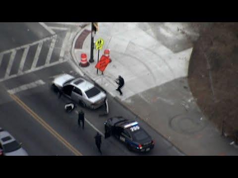 Gunman Flees Police In Baltimore Car Chase