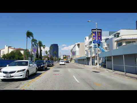 Driving Fairfax Ave in Los Angeles, California