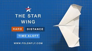 Fold 'N Fly ✈ The Star Wing Paper Airplane