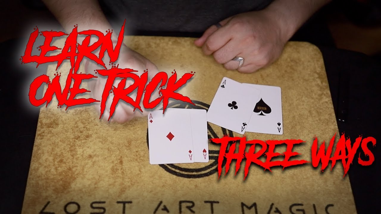 learn 1 card trick 3 different ways easy card trick