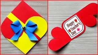 Easy and beautiful Teacher's day card handmade / Teachers day card making idea very easy
