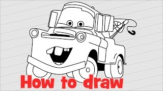 How to draw Cars 3 step by step Mater
