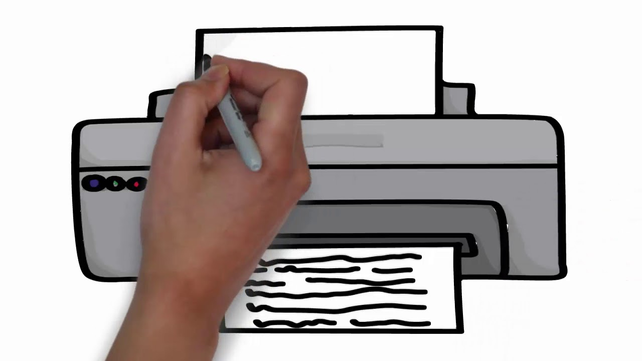 How to draw a printer | Easy drawing for kids || Computer