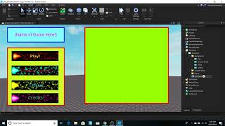How To Make A Story Game Hauptmenü In Roblox Studio (Teil 1: Gui es)