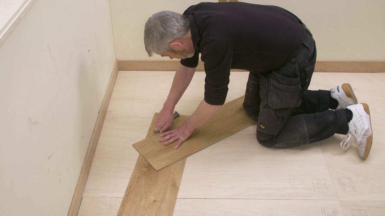 Cutting A Vinyl At 45 Degree Angle, How To Install Laminate Flooring At 45 Degree Angle
