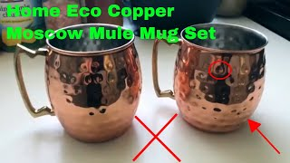 ✅  How To Use Home Eco Copper Moscow Mule Mug Set Review