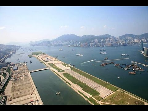Google Earth Flight Simulator,The Most Dangerous Airport,KAI TAK,HONG KONG,CHINA