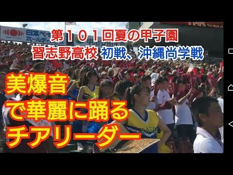 【第101回夏の甲子園】習志野高校 初戦 美爆音‼チアリーダーメイン(Cheerleader)(Japan)の動画です。