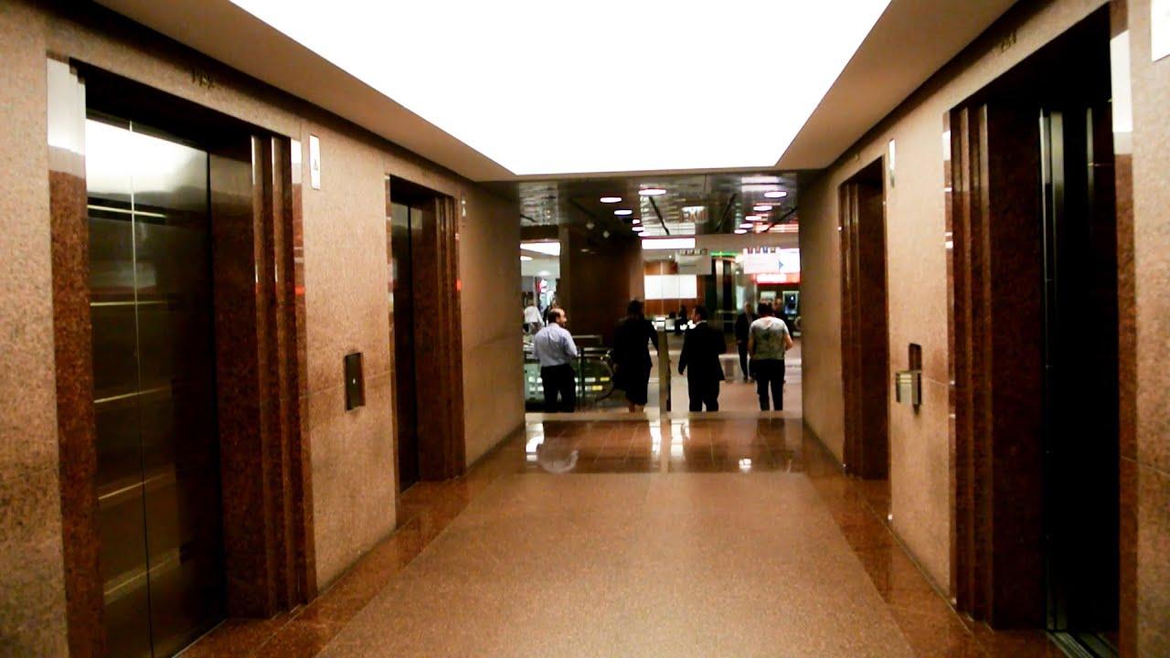 1980s Schindler -series Double-decker Elevators Serving