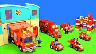 Lego Duplo Spielzeug Besucht Feuerwehrmann Sam Bei Der Pontypandy Feuerwehrstation & Wasserwacht