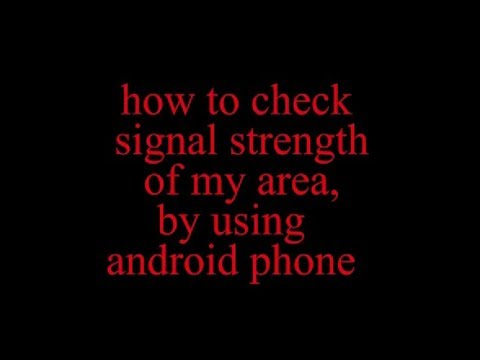 How To Check Mobile  Network Strength In Android.