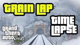 GTA 5 Train Time Lapse Around San Andreas | Polar Express | 60fps