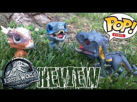 Jurassic World Fallen Kingdom Funko Pop Review  Blue Stygimoloch Indoraptor