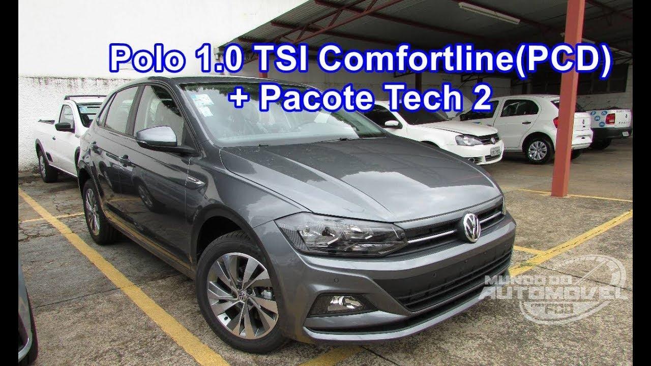 afcfecd80 Novo Polo 2018 Comfortline 1.0 TSI AT6 com Pacote Tech 2 - Para PCD ...