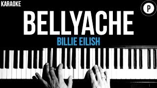 Billie Eilish - Bellyache Karaoke SLOWER Acoustic Piano Instrumental Cover Lyrics