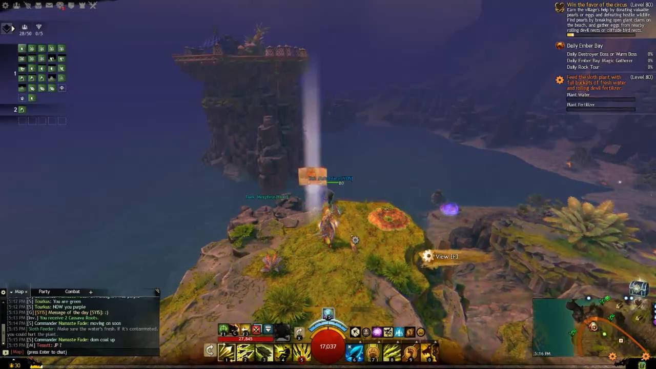 Guild Wars 2 Osprey Pillars Vista Without Ley Line Gliding by Tam Tolmie