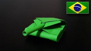 Origami: Tanque de Guerra 2.0 - Instruções em Português PT-BR