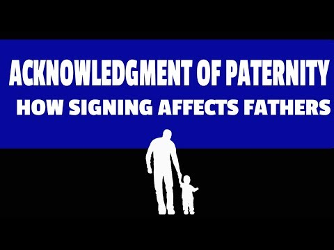 Acknowledgment of Paternity Form: How Does Signing An AOP form Have An Effect on my life?