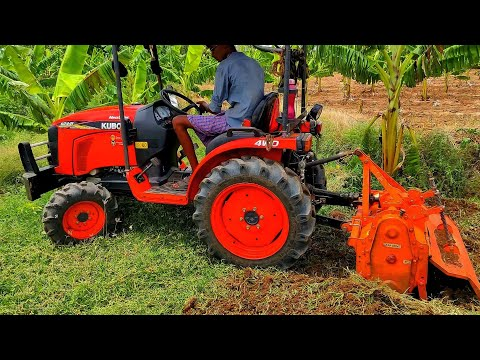 Kubota B2441 Mini Tractor | Rotary Tiller Performance | Specifications & Price