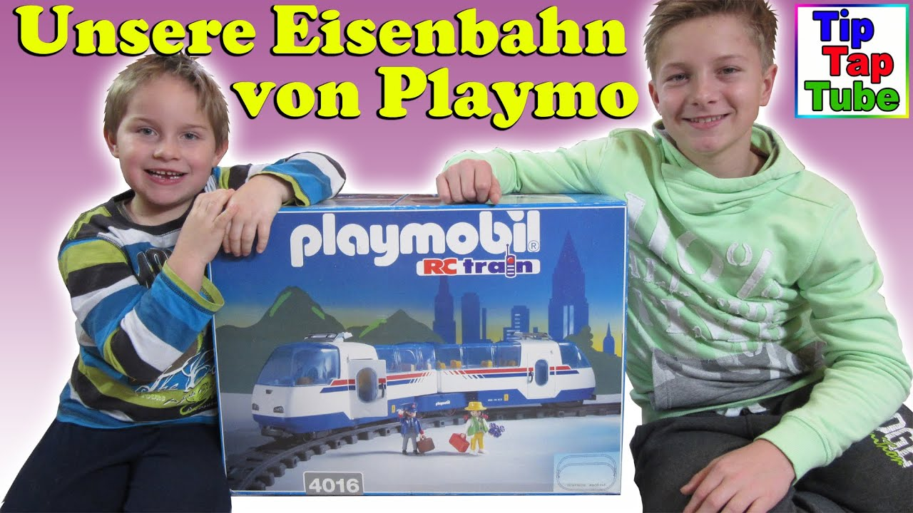 Playmobil eisenbahn rc train unboxing video spielzeug