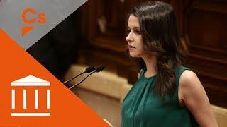 Ines Arrimadas. Réplica a comparecencia de Puigdemont en crisis de gobierno