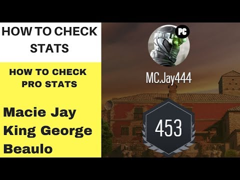 How To See Your Stats Rainbow Six Siege (Macie Jays Stats) (Your Own Stats)