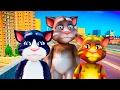 Funny cartoons for kids! Talking cat Tom! Super Adventures and race car Banana!