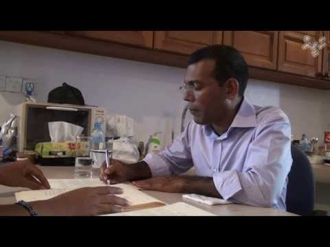 One day with presidential candidate Nasheed