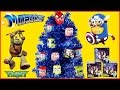 Awesome Blue Christmas Tree w/ Surprise Toy Ornaments