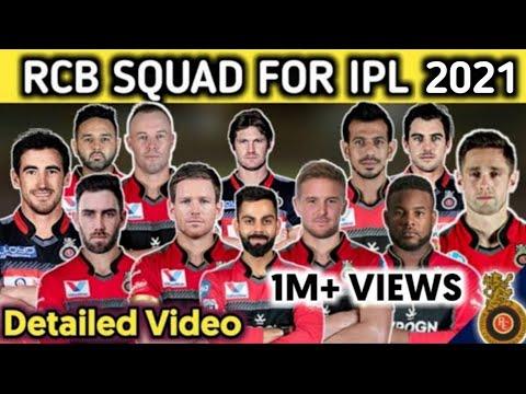 Royal Challengers Bangalore (RCB) Full Squad For IPL 2020