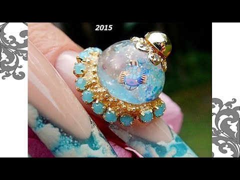 SNOW GLOBES ON  NAILS -------( REAL ) ----THE TUTORIAL *  LEARN HOW *