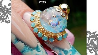 SNOW GLOBES for NAILS -----SNOW GLOBES / WATER GLOBE NAILS  ( REAL ) ----THE TUTORIAL *  LEARN HOW *