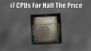 """The Story of The Cheap """"Intel Confidential"""" Processors"""