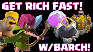 Clash Of Clans Best Attack Strategy Townhall 1 - Townhall 5 Barch Millions Of Resources