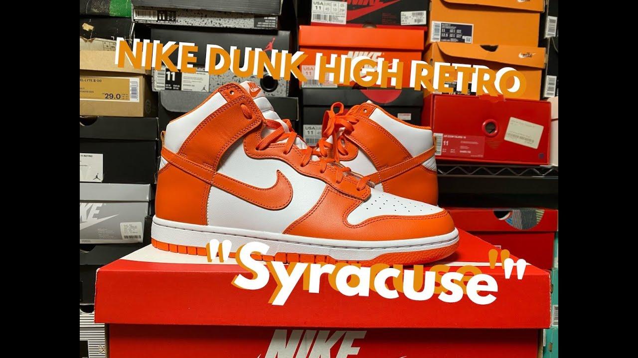 "NIKE DUNK HIGH RETRO ""Syracuse / オレンジ白"" review & on feet!!"