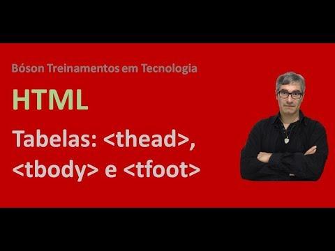 Curso De HTML E CSS - Criando Tabelas (thead, Tbody, Tfoot) - 3