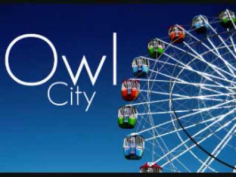 Owl City - Fuzzy Blue Lights [w/ lyrics]