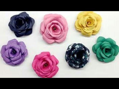 Diy How To Make Rose Flower With Paper In Hindi