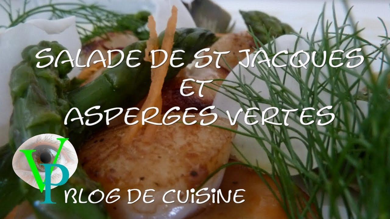 Salade de St Jacques et asperges vertes