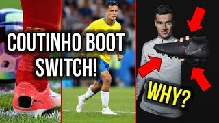 WHY DID COUTINHO SWITCH HIS FOOTBALL BOOTS? *NO MORE MERCURIALS!*