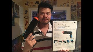 Unboxing Wii DreamGEAR Dual Trigger Light Blaster+Gameplay Test & Impressions