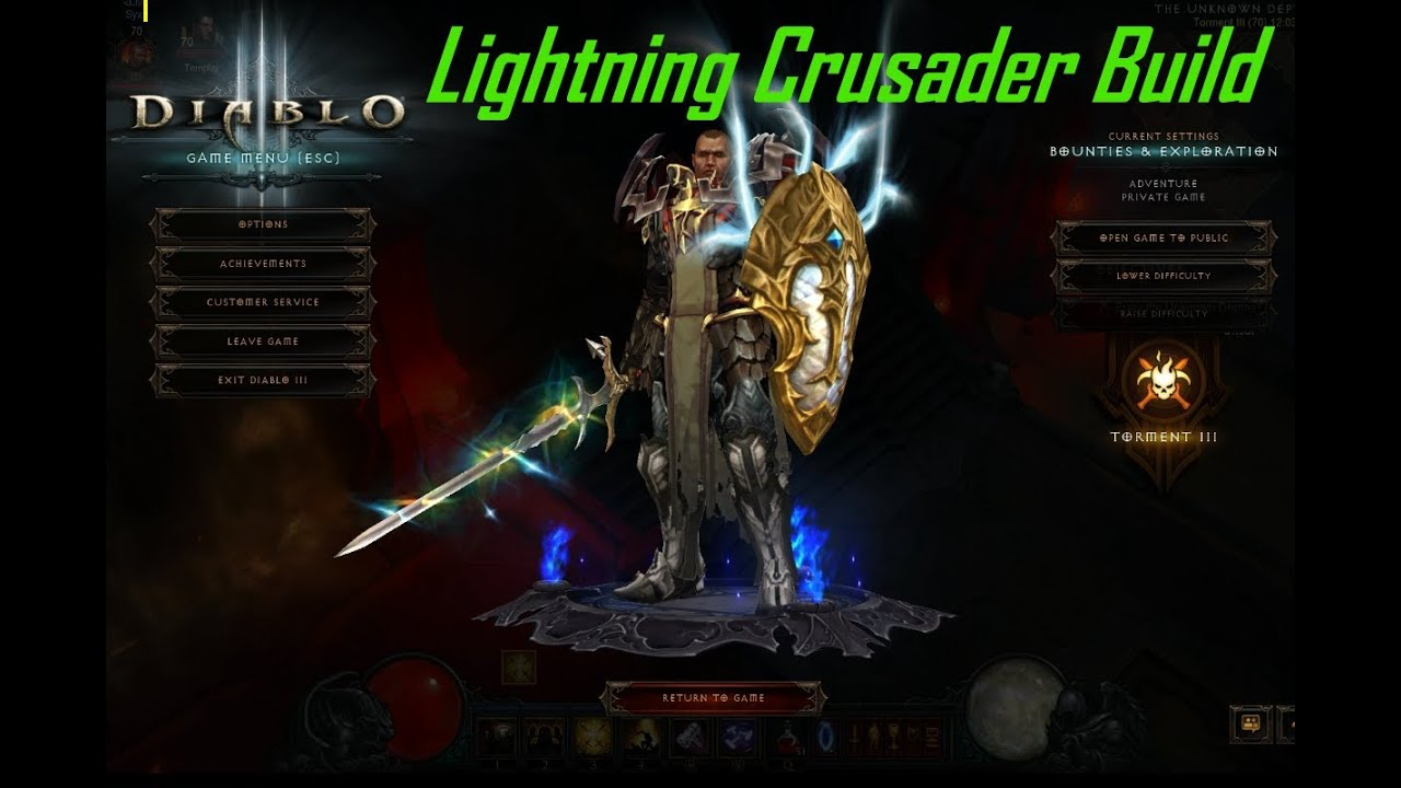 Diablo Crusader Build