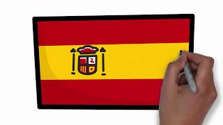 How to draw a Spain flag ||  National Flag of Spain || make a Spanish flag
